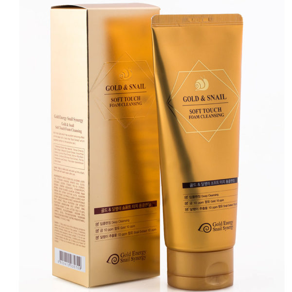 Gold Energy Snail Synergy 24K Gold Snail Soft Touch Foam Cleansing