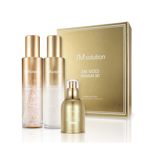 JM SOLUTION 24K GOLD PREMIUM PEPTIDE SET (3 piece)