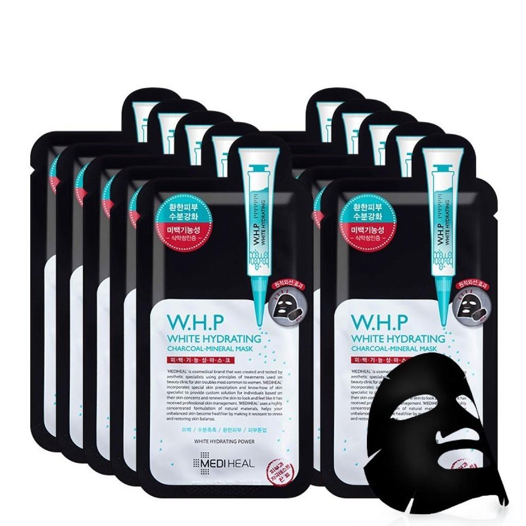 MEDIHEAL BLACK MASK W.H.P White Hydrating Charcoal Mineral Mask