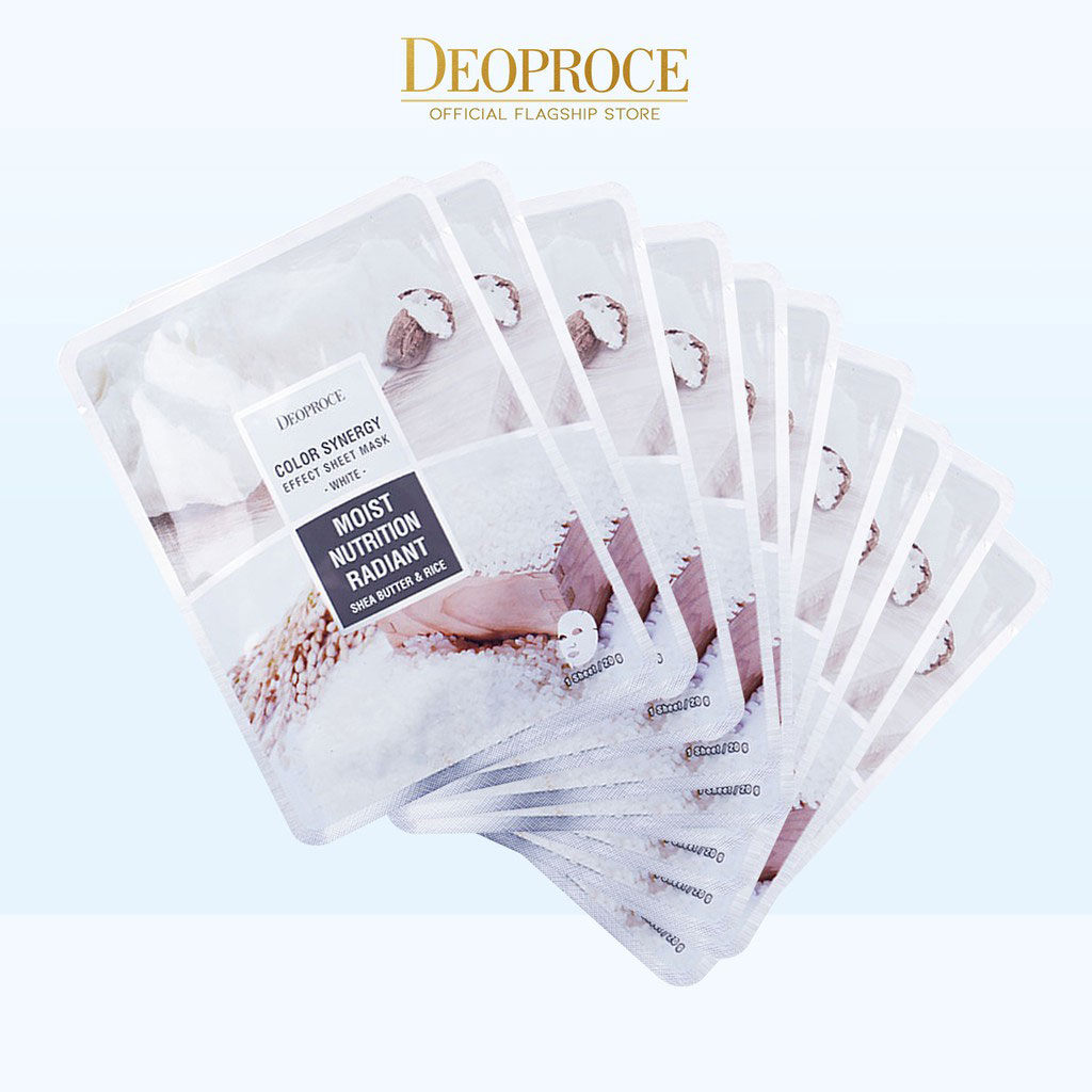 Deoproce Color Synergy Effect Sheet Mask – White