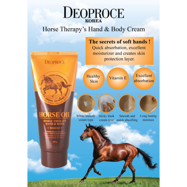 Deoproce Horse Oil Horse Therapy Hand & Body