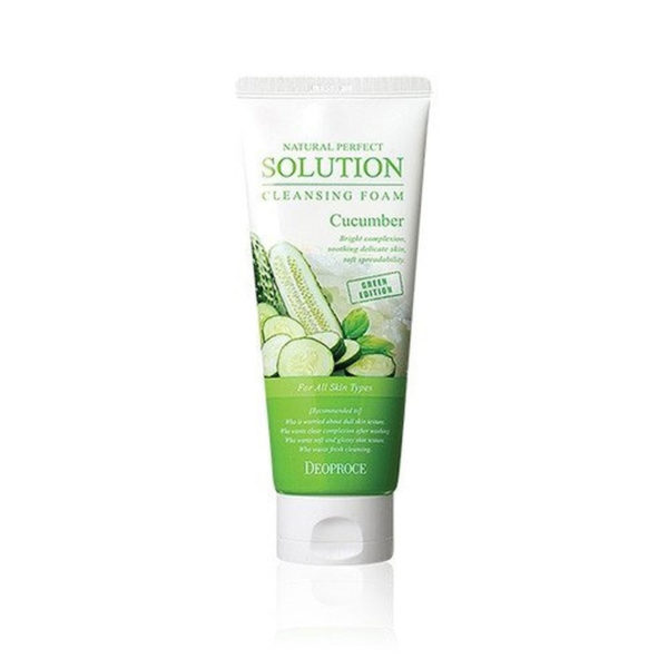 Deoproce Natural Perfect Solution Cleansing Foam Cucumber