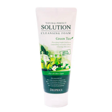Deoproce Natural Perfect Solution Cleansing Foam Green Tea