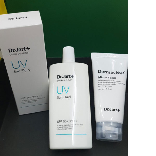 Dr. Jart+ Every Sun day Sun Fluid Special Set (with Dermaclear Micro Foam) (2piece)