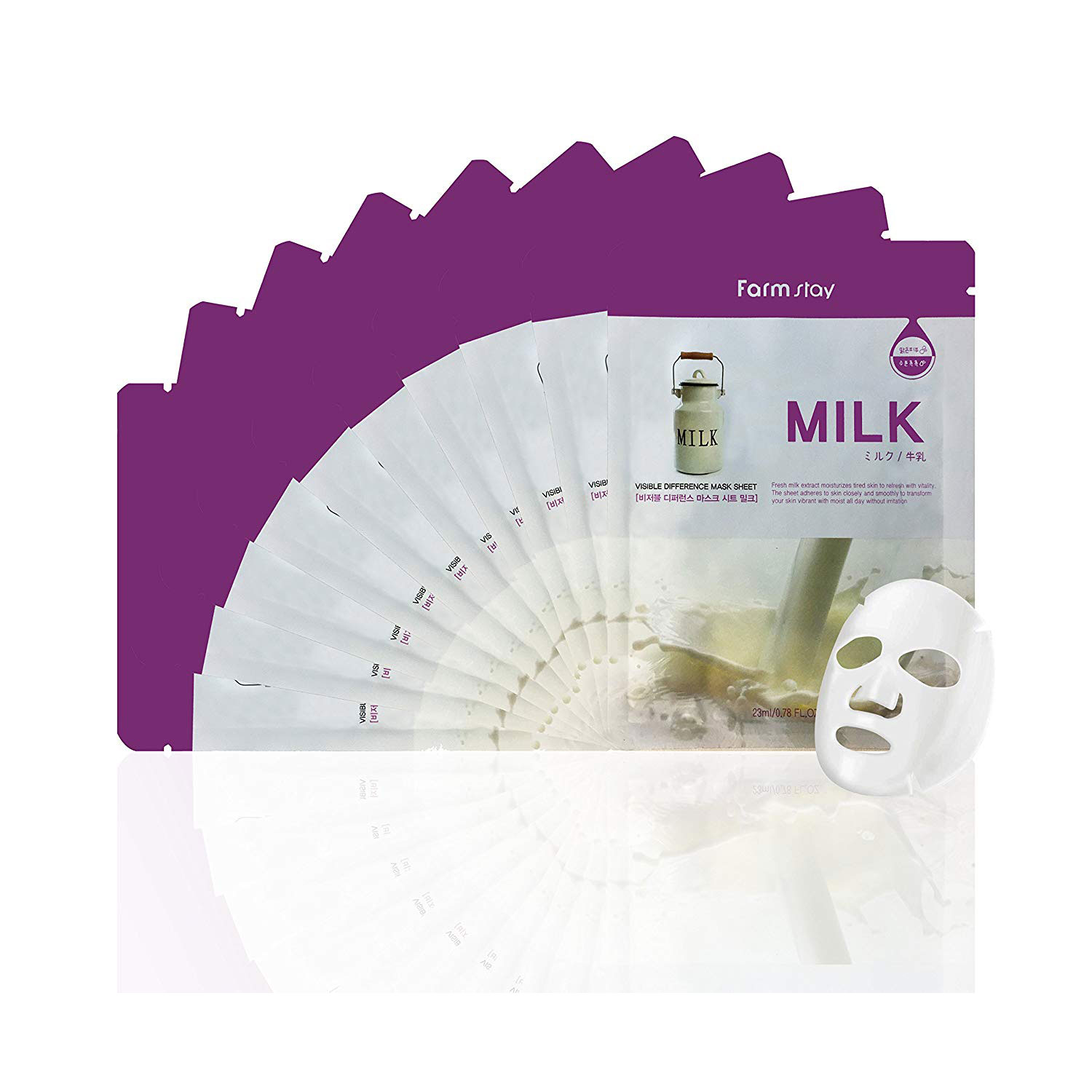 Farm Stay Milk Visible Difference Mask Sheet
