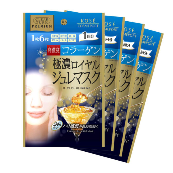 Kose CLEAR TURN PREMIUM Royal Jelly Mask Collagen