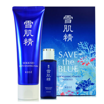 Kose Sekkisei Save the Blue White Washing Foam Kit (130g+24ml)