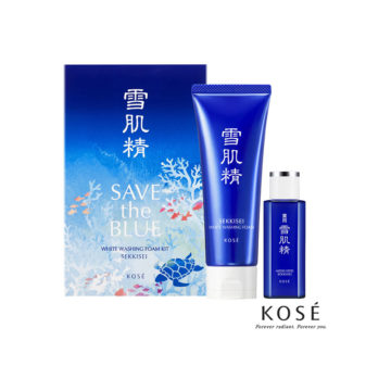 Kose Sekkisei Save the Blue White Washing Foam Kit (130g+24ml)