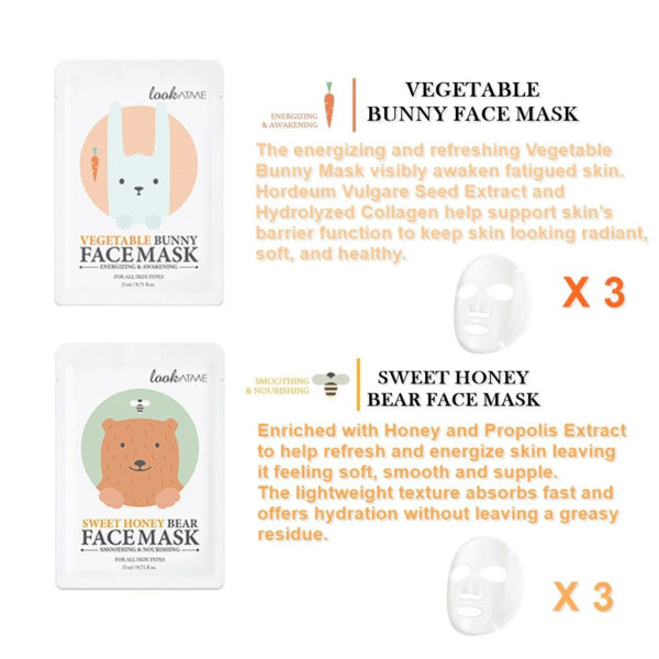 LOOK AT ME Vegetable Bunny Face Mask