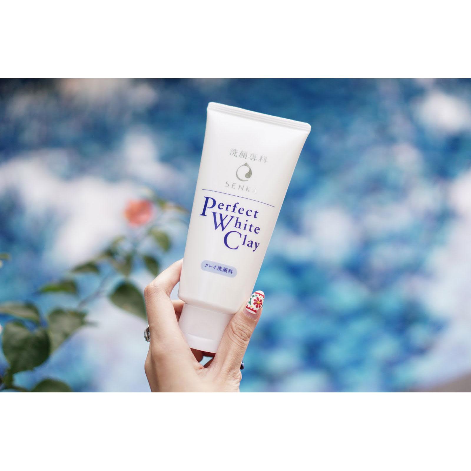 Shiseido Senka Perfect White Clay Facial Cleanser (120g)
