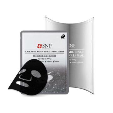 SNP Black Pearl Renew Black Ampoule Mask (10piece)