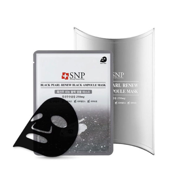 SNP Black Pearl Renew Black Ampoule Mask (10piece)