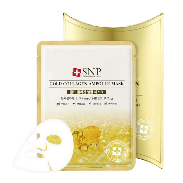 SNP Gold Collagen Ampoule Mask (10piece)