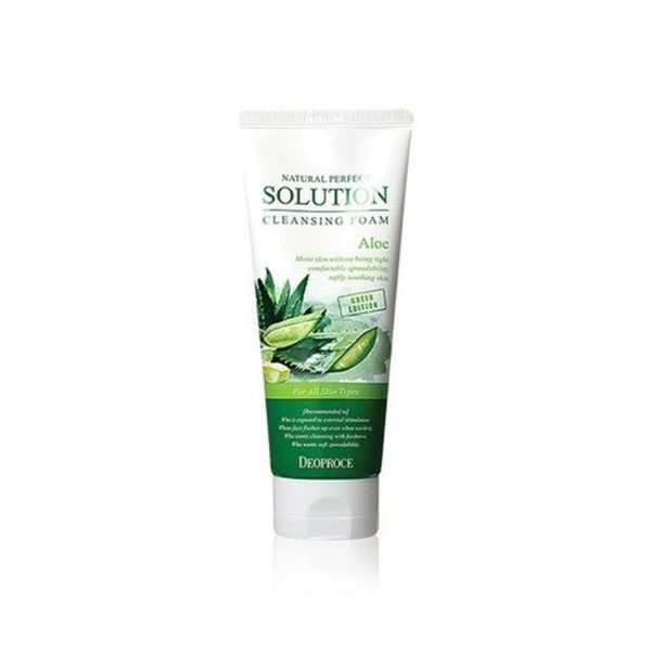Deoproce Natural Perfect Solution Cleansing Foam Aloe (170g)