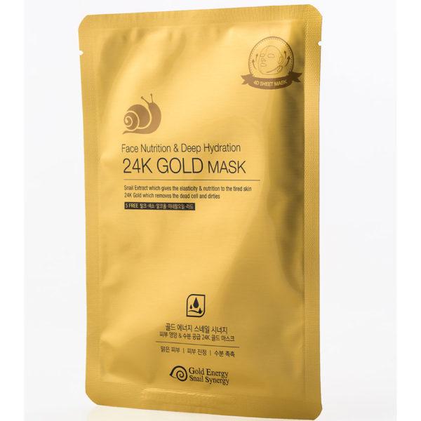 Gold Energy Snail Synergy 24K 4D Gold Mask [Nutrition & Deep Hydration] 10 pcs