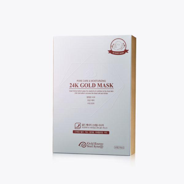 Gold Energy Snail Synergy 24K 4D Gold Mask [Pore Care & Moisturizing] 10 pcs