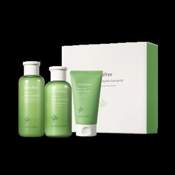 Innisfree Green Tea Balancing Skin Care Set Ex [+Cleanser] (3 Items)