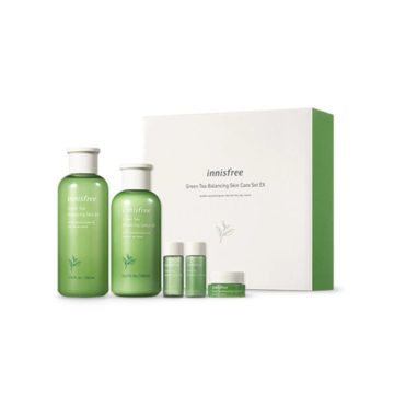 Innisfree Green Tea Balancing Skin Care Set Ex (5 items)