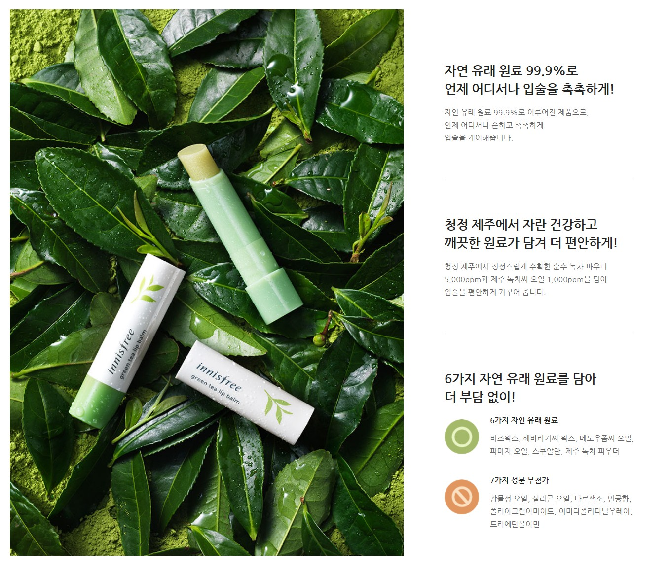 Innisfree Green Tea Lip Balm (3.6g)