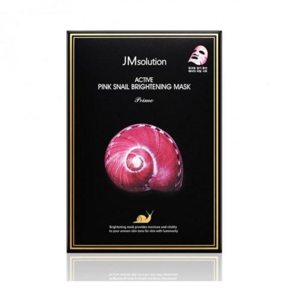 JM SOLUTION Active Pink Snail Brightening Mask (10pcs)