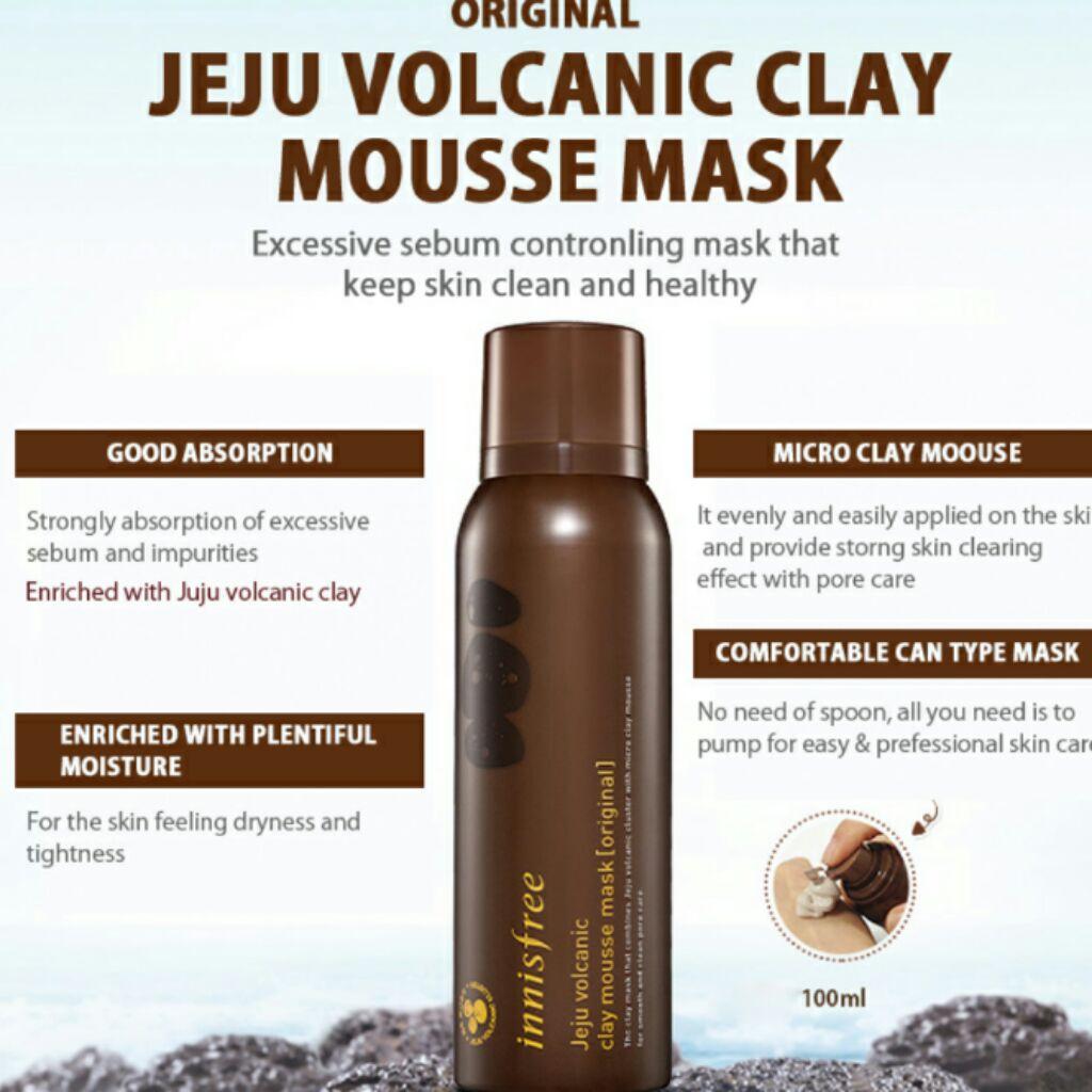 Innisfree Jeju Volcanic Clay Mousse Mask [Original]