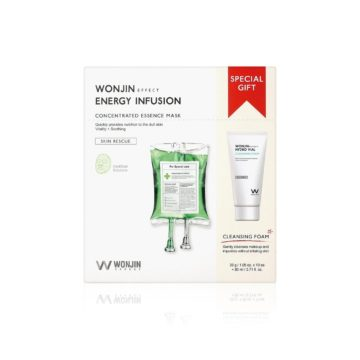 Wonjin Effect Energy Infusion Concentrated Essence Mask & Cleansing Special Kit