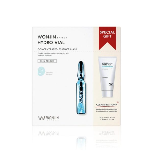 Wonjin Effect Hydro Vial Concentrated Essence Mask & Cleansing Special Kit