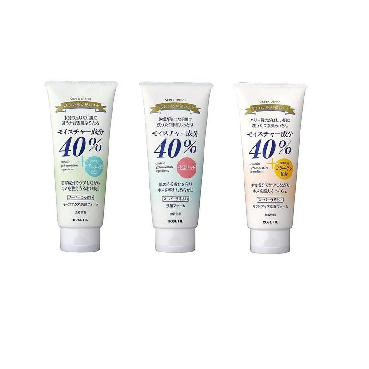 Rosette 40% Super Uruoi Facial Cleansing Foam