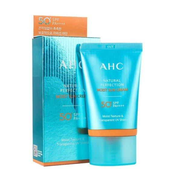 AHC Natural Perfection Moist Sun Cream SPF50+PA+++
