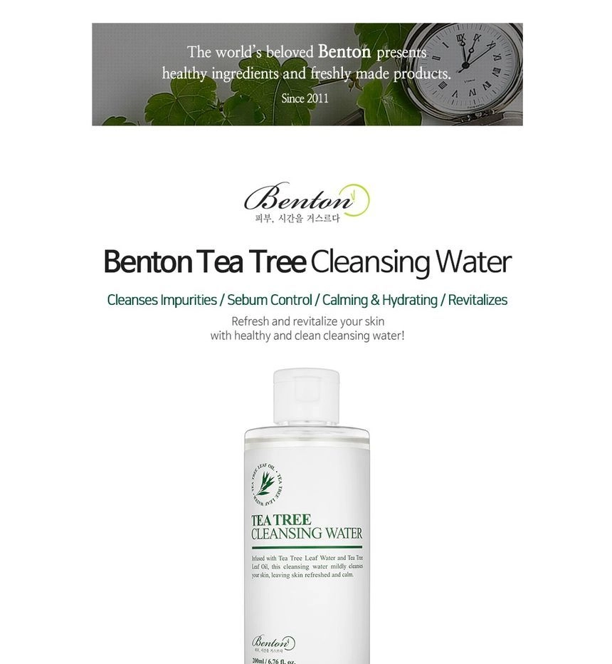 Benton Tea Tree Cleansing Water
