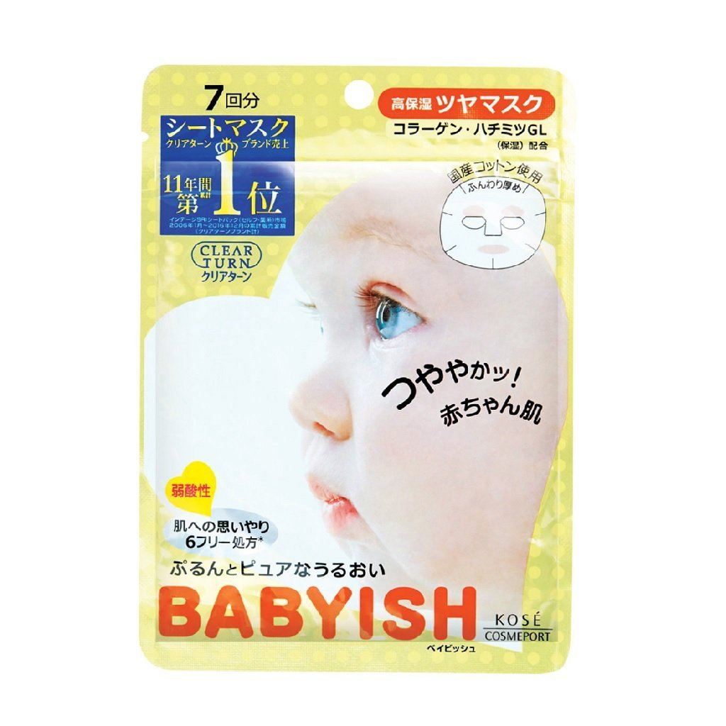 Kose Clear Turn Babyish Highly Moisturizing Lustrous Mask