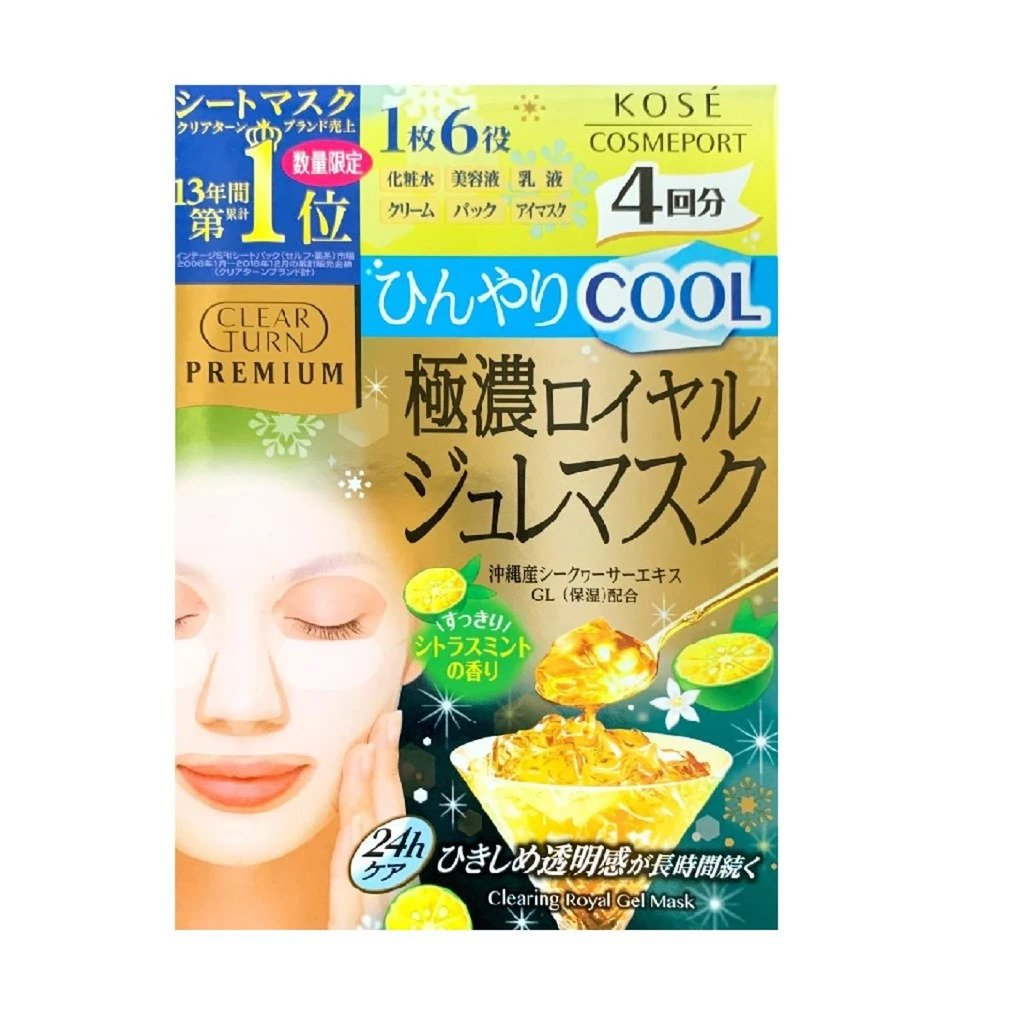 Kose Clear Turn Premium Royal Okinawa Citrus Depressa Cool Type Gelee Mask