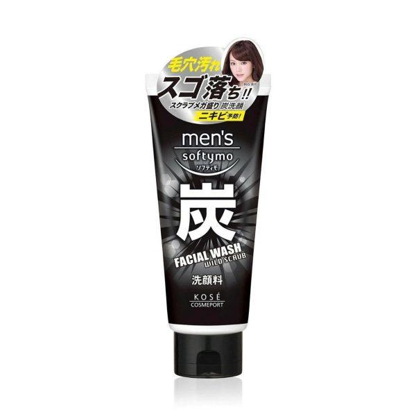 Kose Softymo Men's Wild Scrub Facial Wash