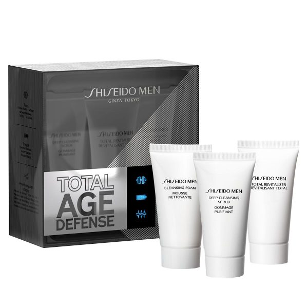 Shiseido Men Total Age Defense Starter Cleansing Set